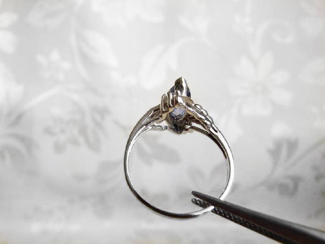 Tanzanite & Diamond Ring 1.20T14k W/g - 4