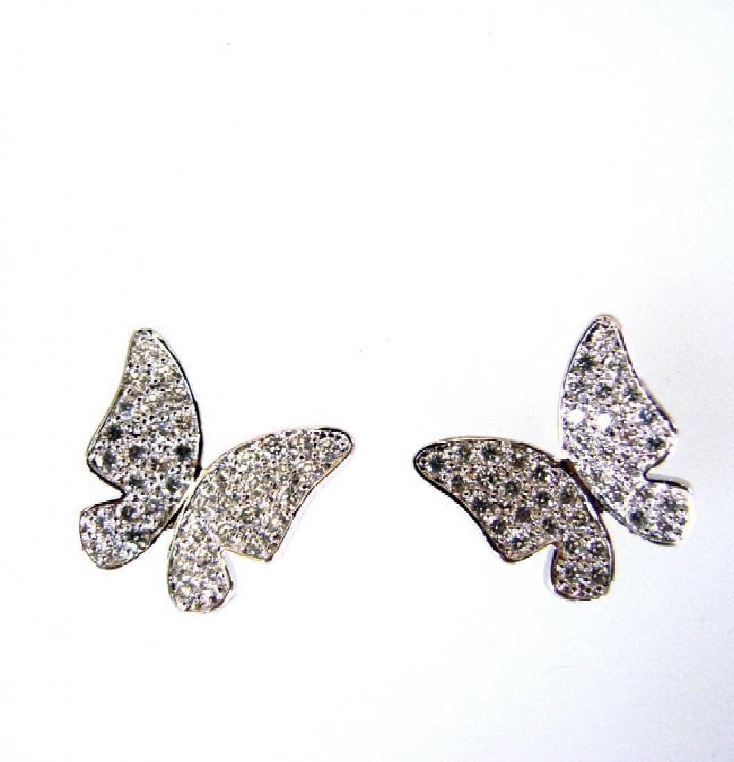 Creation Diamond Butter Earring 1.60Ct 18k W/g Overlay - 2