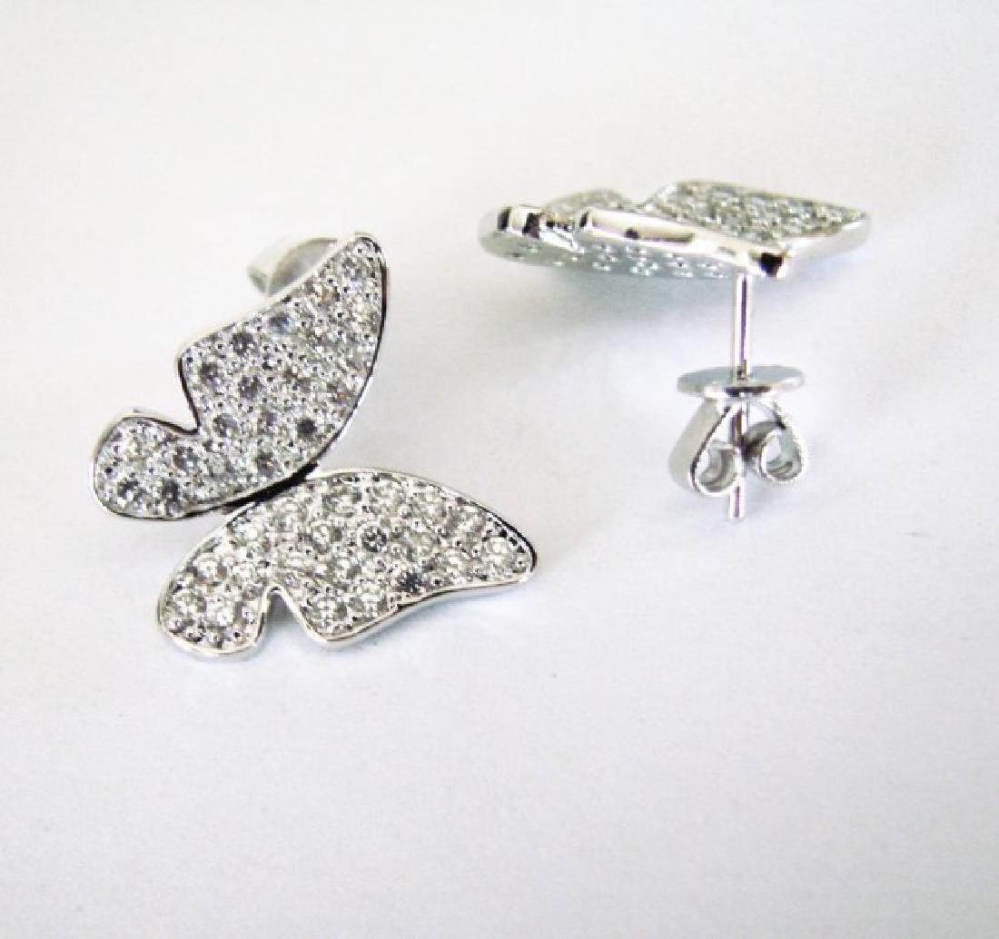Creation Diamond Butter Earring 1.60Ct 18k W/g Overlay - 3