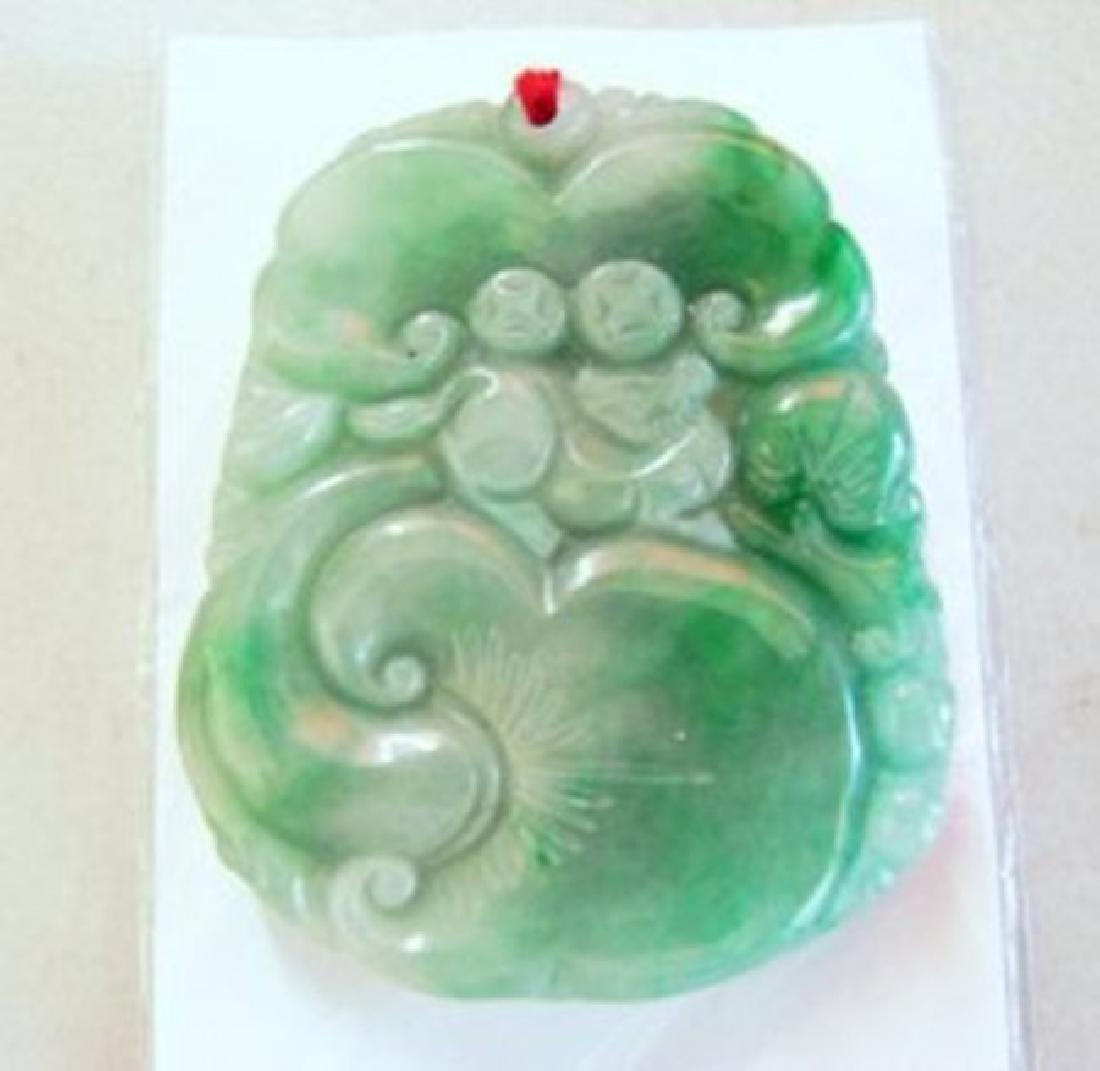 Natural Jade Carving Birds Mouse Ruyi Grade: A
