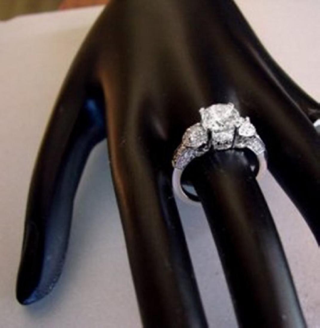 Engagement Ring Diamond 2.31Ct 18k White Gold - 2