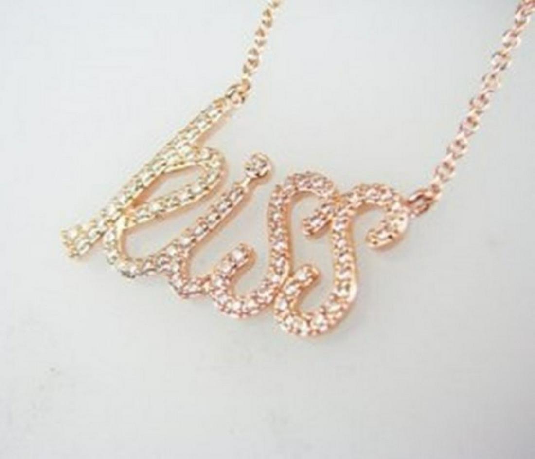 Creation Diamond Necklace 1.00CT 18k R/g Overlay