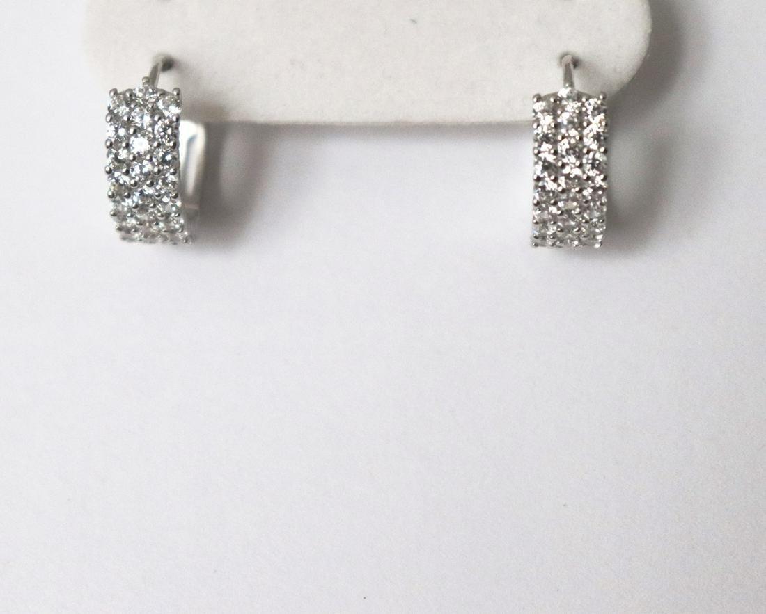 Creation Diamond Earrings 2.24Ct 18k W/G Overlay