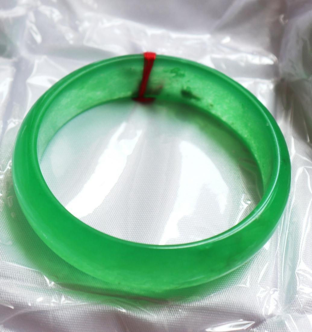 Natural Jadeite Jade Bangle Grade A Size 7.75