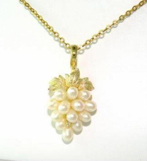 Culture Pearl Pendant 3-4mm (AA) 14k Yellow Gold