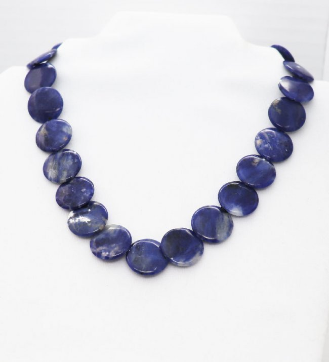 Coin Lapis Lazuli Stone Beads with Gold Filled