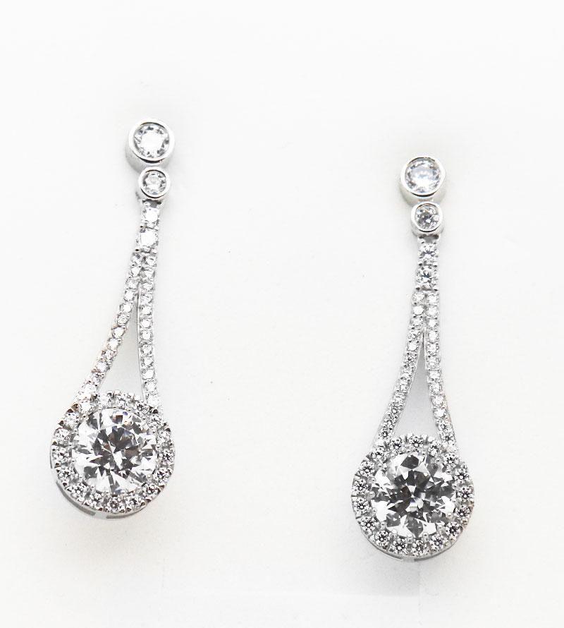 Dangle Earrings Creation Diamond 5.30 CT 18K W/G