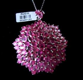 Natural Ruby Pendant 79.98 Carat 18k Y/g Overlay