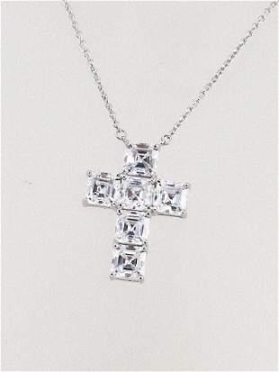 Cross Necklace Creation, Diamond 3.05 CT 18 K W/g
