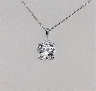 Necklace Creation, Diamond 1.60 Ct 18k W/G Overlay