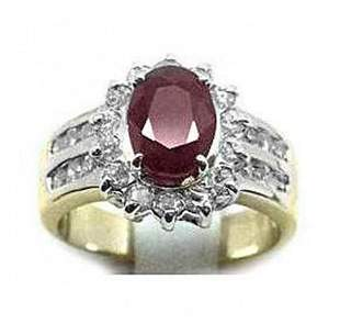 Anniversary Ruby Diamond Ring 3.88Ct 14k Y/g