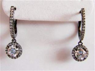 Creation Dia: Dangle Earring 2.45Ct 18k B/g Overal