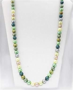 Multi-Color Swarovski Pearl Necklace Endless