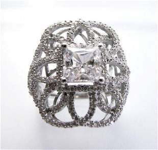 Vintage Ring Creation Dia: 4.20ct 18k W/g Over