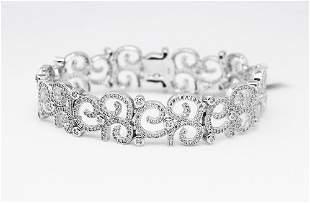 Bracelet Creation, Diamond 7.85 Carat 18k W/G Overlay
