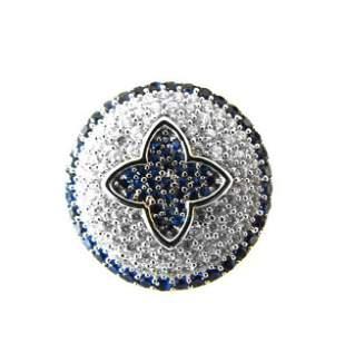 Creation Diamond Sapphire Ring 2.10Ct 18k W/g Overlay