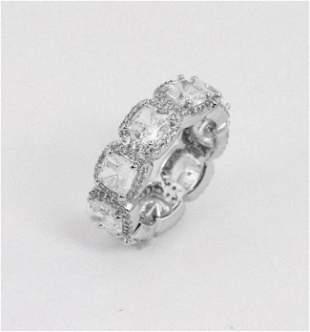 Eternity Ring Creation/Diamond 18k W/G Overlay
