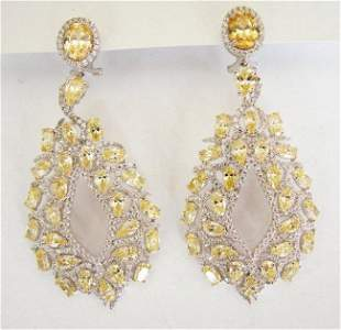 Creation,DiaY/W Chandelair Ear 18.49 Ct 18kW/g Over