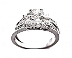 Wedding Set Diamond Ring 2.06 Carat with 14k W/G
