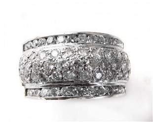 Woman's Diamond Ring 1.72Ct 14k Yellow Gold