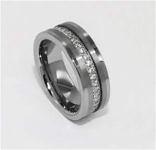 Tungsten Comfort Ring Creation, Diamond 1.40Ct SZ 10