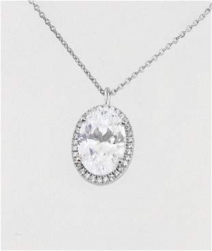 Necklace Creation, Diamond 5.35. Ct 18k W/G Overlay
