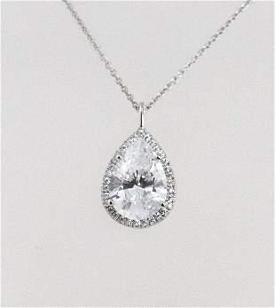 Necklace Creation, Diamond 6.35 Ct 18k W/G Overlay
