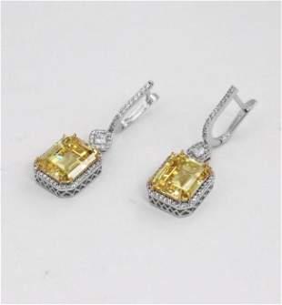 Creation, Y/W Diamond 11.30 Carat 18K W/G Overlay 925