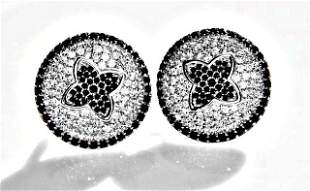 Creation Diamond W-B EarringS 4.20Ct 18k W/g Overlay