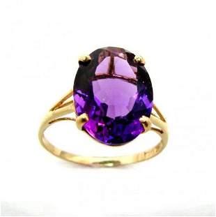 Amethyst Ring 4.10 Carat 14K Y/g