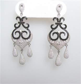 Creation Diamond Chandeliers Ear 3.74Ct 18k W/g Overlay