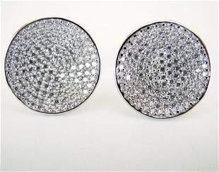 Creation Diamomd Stud Earrings 2.00Ct 18k W/g Overlay