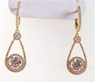Creation Diamond Earrings 3.94Ct 18kY/g Overlay