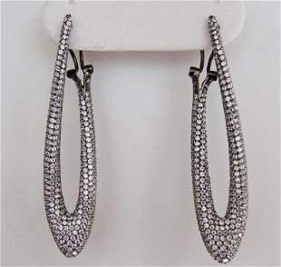 Creation Diamond Chandeliers Ear 4.85Ct 18k B/g Overlay