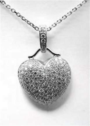 Creation Diamond Heart Pendant 2.00ct18kW/g Over