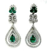Creation, Diamond & Emerald 21.72ct 14k W/G Overlay