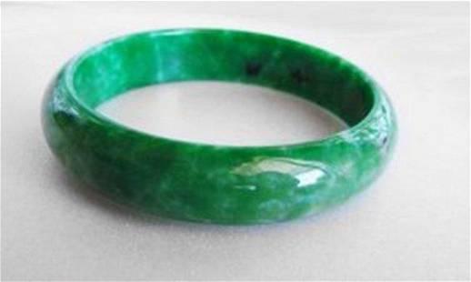 Natural Jaideite Jade Bangle Green Grade A Size: 7