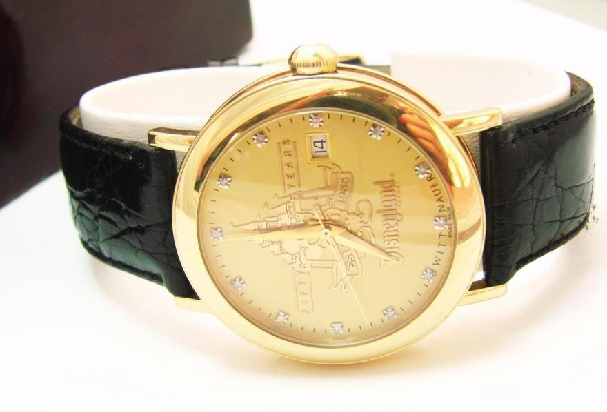 167: 18k Collection Man's Watch Disney's 50th