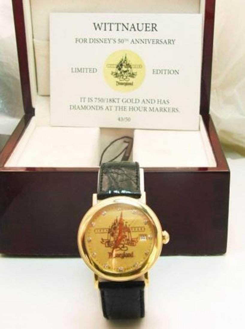 167: 18k Collection Man's Watch Disney's 50th - 3