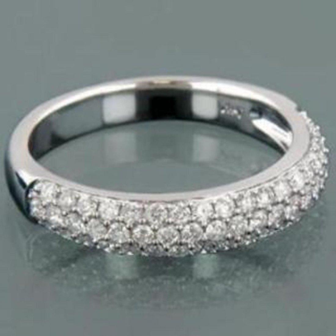 185: Stunning Woman's Diamond Ring 1.17 carat 14k W/G