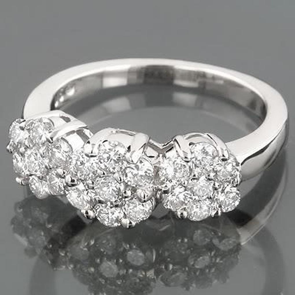189: Anniversary Invisible Diamond Ring .70 carat 14k W