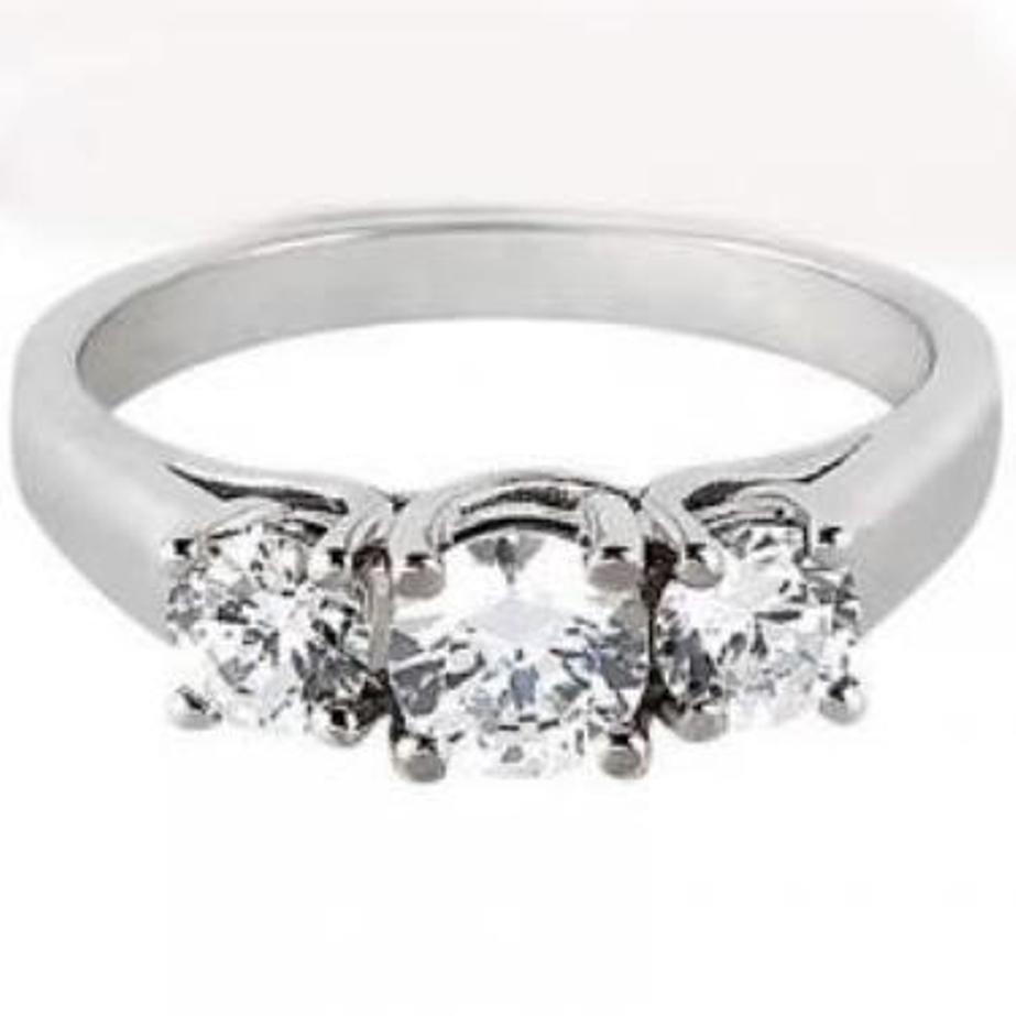 197: Anniversary Diamond ring1.10 carat 14k W/g