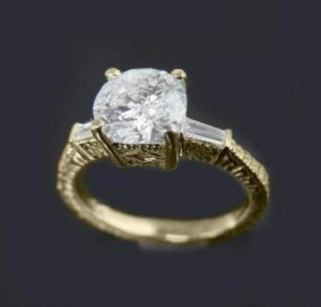 376: Anniversary Diamond Ring 1.65 Carat 14k Y/G