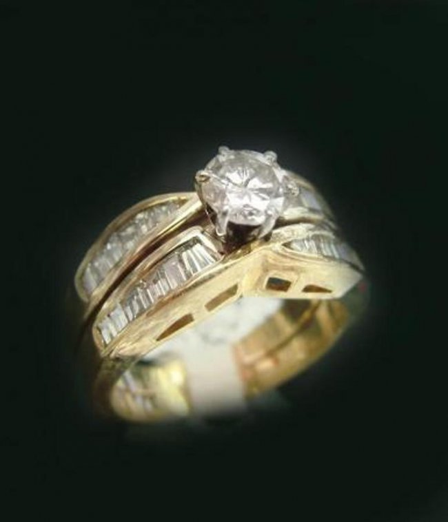 382: Engagement Ring : 1.10 Carat Clarity: SI3 14K Y/G