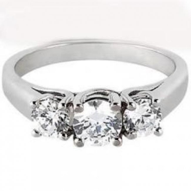 391: Anniversary Diamond Ring1.10 carat 14k W/g