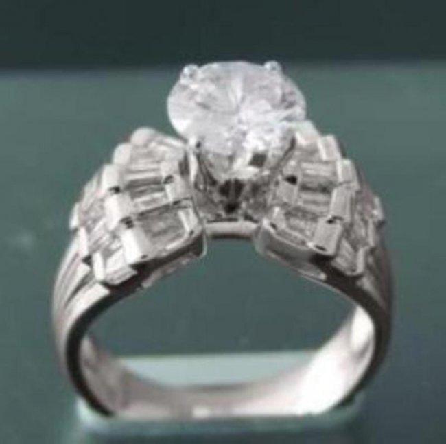 690: Anniversary Diamond Ring 2.30 Carat 14k W/G