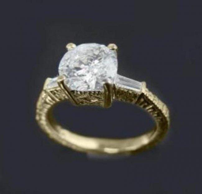 691: Anniversary Diamond Ring 1.65 Carat 14k Y/G