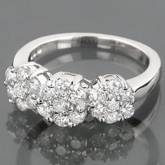 698: Anniversary Invisible Diamond Ring .70 CT14k W/G