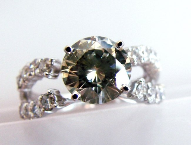 986: Anniversary Diamond Ring 3.35 14k White Gold