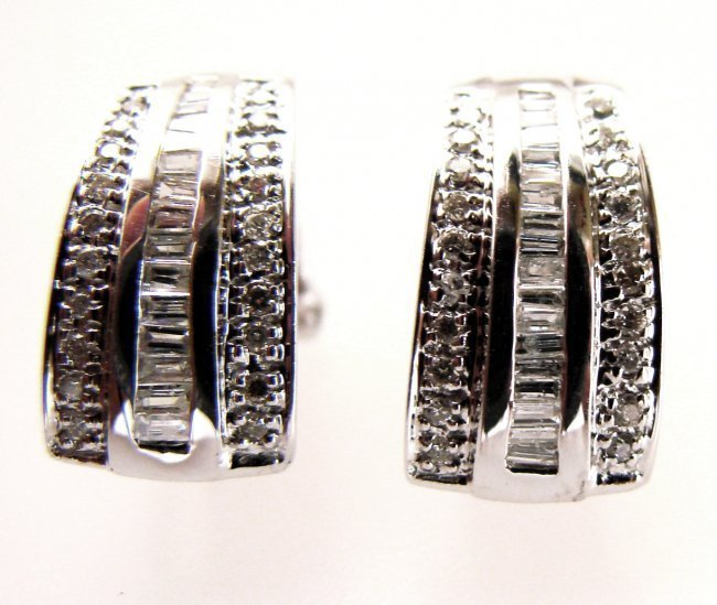 1084: Stunning Diamond Earrings 1.39Carat 14k W/g